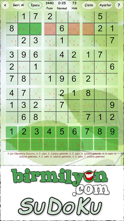 SuDoKu Birmilyon- screenshot