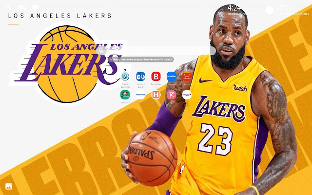 LeBron James Lakers Wallpapers HD New Tab