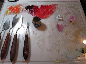 Photo: palette with palette knives