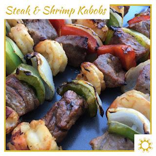 Steak & Shrimp Kabobs.