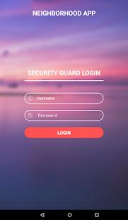 Neighborhood Security App - náhled