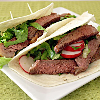 Steak and Salad Tacos.