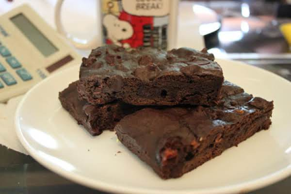 German Dark Chocolate Fudge Brownies With Black Cherry Preserves