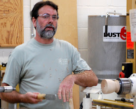 Photo: Mike explained that in the old days this end grain blank would have been cleaned out with a scraper.