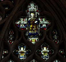 Photo: Detail 11 - Stained glass window West front Hereford Cathedral - 1902