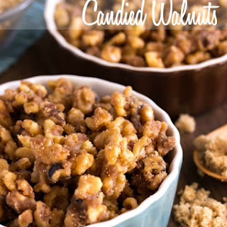 Brown Sugar Candied Walnuts.