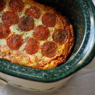 Crock Pot Pizza.