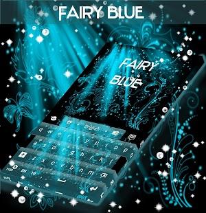 Krásná modrá klávesnice Téma - náhled