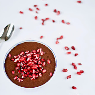 Chocolate Flax Pudding with Pomegranate