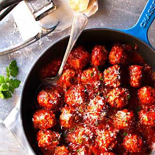 The Hirshon Italian-American Meatballs In Red Sauce.