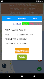 Area Distance Perimeter Measurement for Map on GPS - náhled