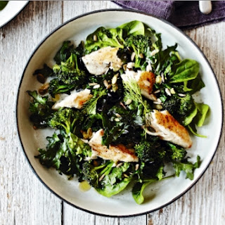 Mackerel and Super Greens with Yoghurt Dressing.