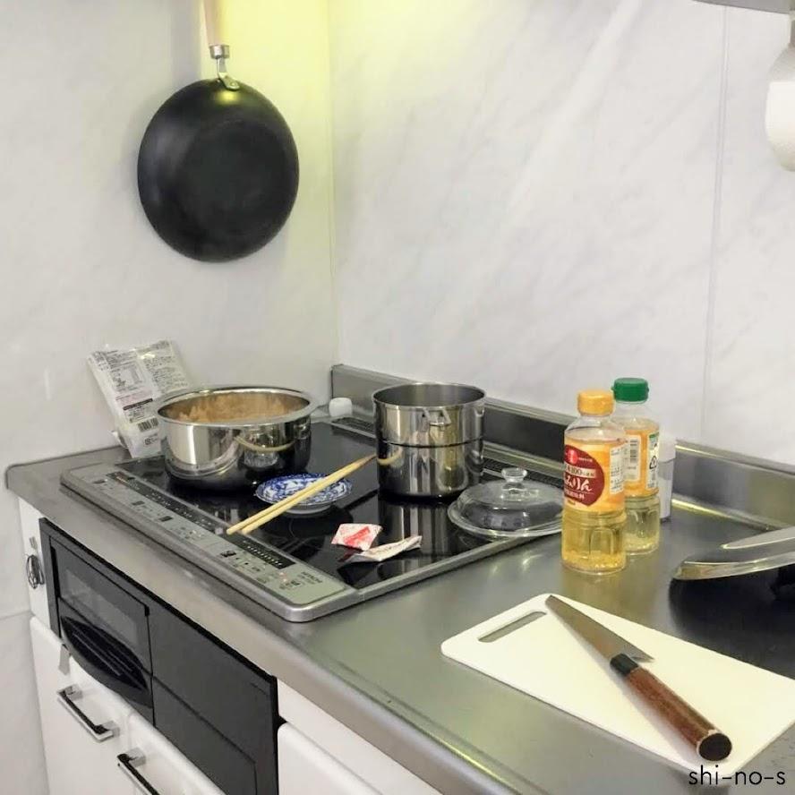 料理を作っている光景