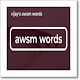 awsm words for Android
