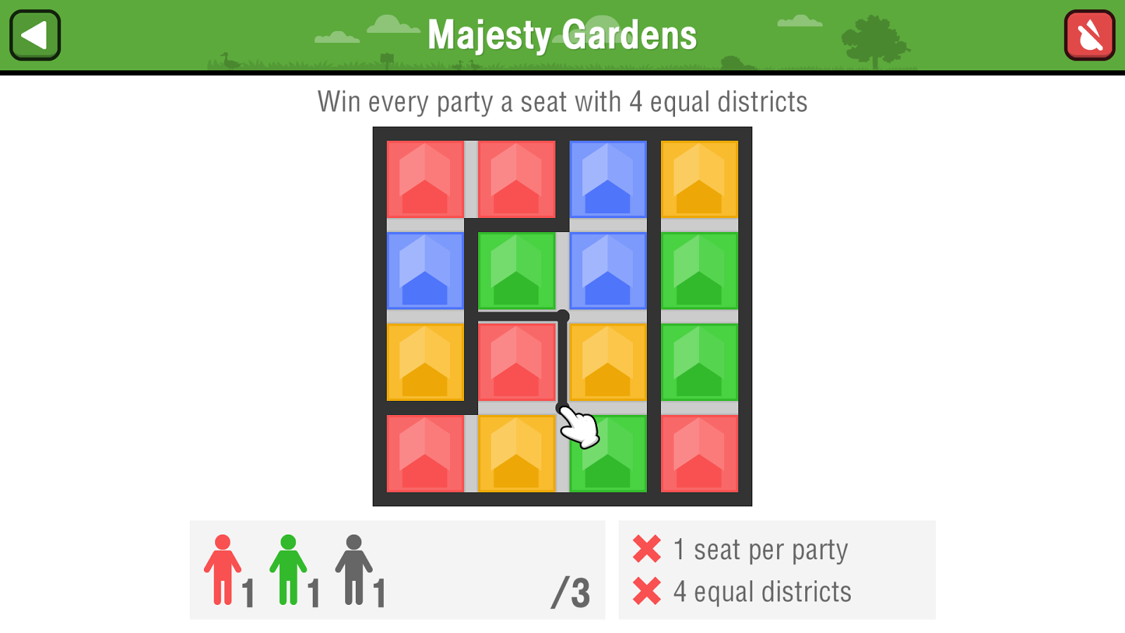 Districts- screenshot