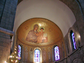 Photo: A mosaic of Mary and Jesus