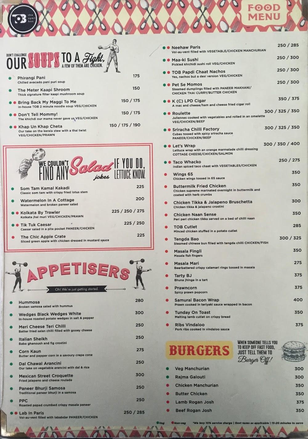 The Open Box menu 10