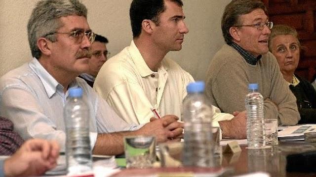 El almeriense Fernando Hiraldo, a la izquierda de la imagen,