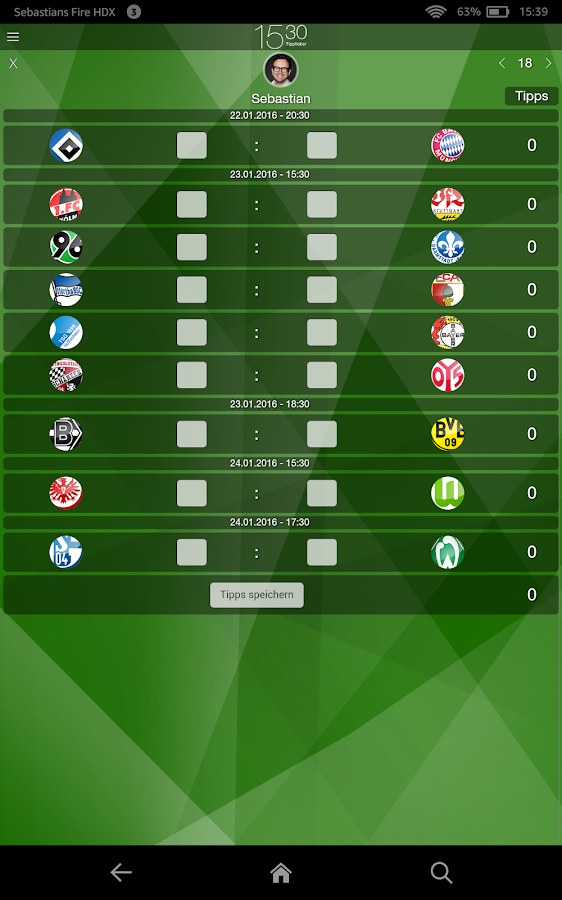 15:30 Tippfieber - Bundesliga – Screenshot