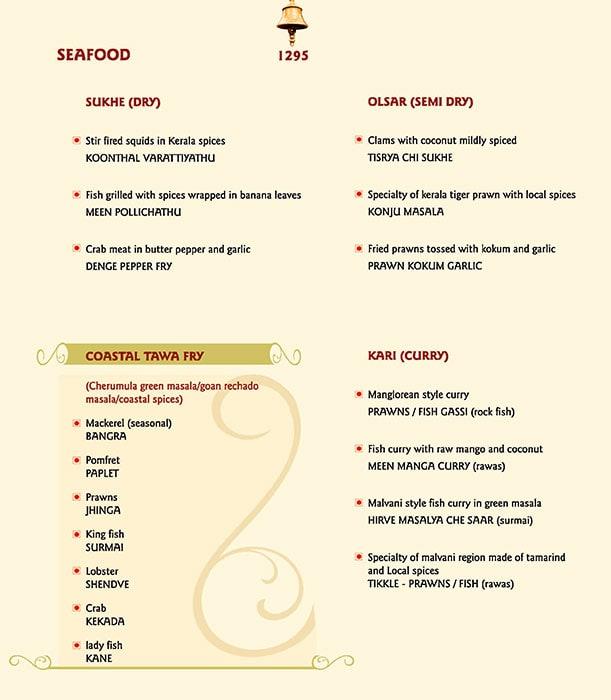 The Konkan Cafe, Vivanta By Taj President menu 5