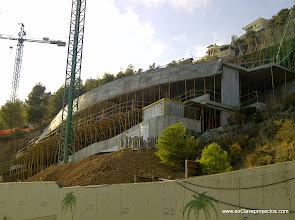 Photo: Perspectiva general de las obras. Fase final de la estructura.