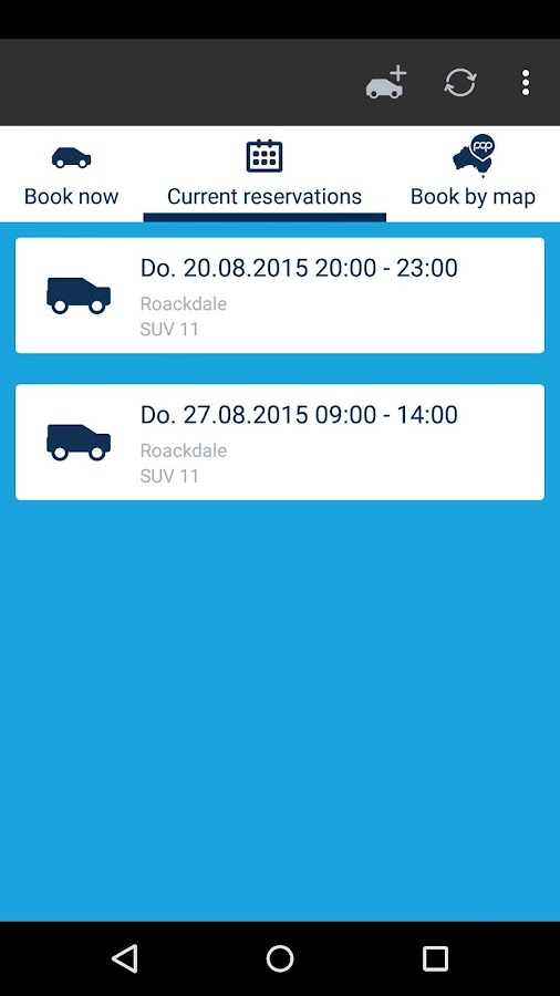 Popcar Car Share- screenshot