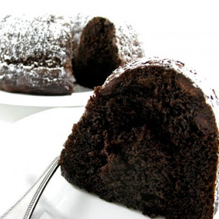 Skinny Double Dark Chocolate Chip Bundt Cake