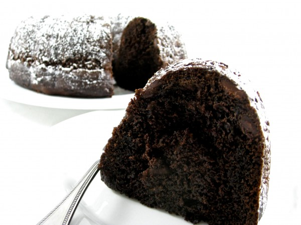 Skinny Double Dark Chocolate Chip Bundt Cake Recipe | Yummly