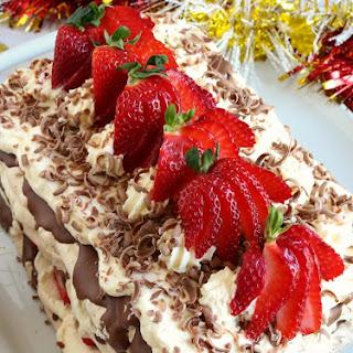 Strawberry Hazelnut Meringue Cake.