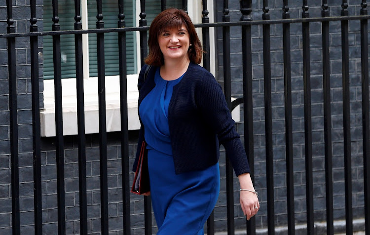 Treasury select committee chair Nicky Morgan arrives at 10 Downing Street in London, Britain. Picture: REUTERS/NEIL HALL