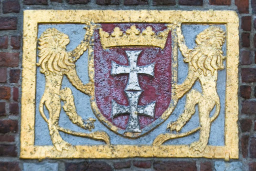 Old-Gdansk-coat-of-arms.jpg - A coat of arms in Old Gdansk, Poland.