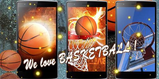 バスケットボールの壁紙の金の時間
