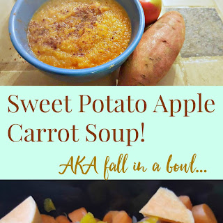 Sweet Potato Apple Carrot Soup! (AKA fall in a bowl)