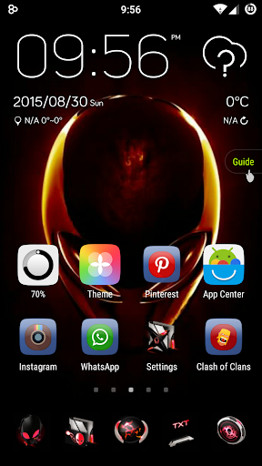 alienware red GO launchertheme