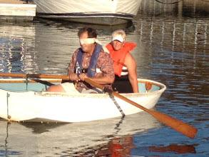 Photo: Blindfolded and rowing backwards. Tough.
