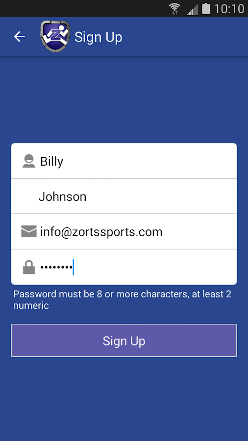 Zorts Sports- screenshot