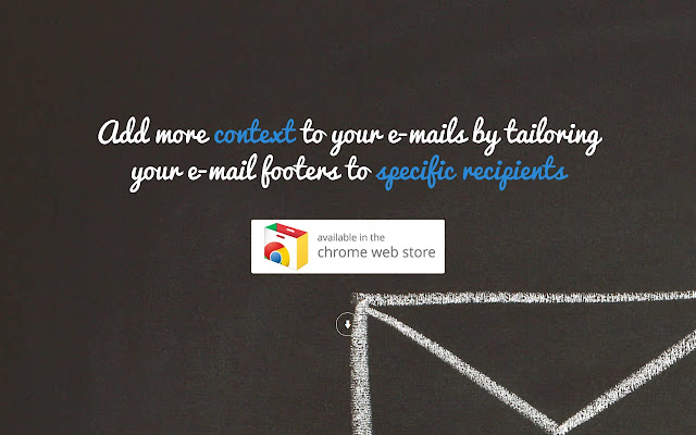 EmailFooterApp - add contextual email footers