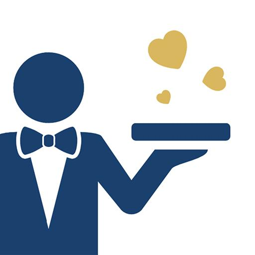 Waiter: Less dating, more love Icon