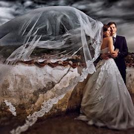 together we stand by Hleb Padloukin - Wedding Bride & Groom ( love, beatiful, wedding, them, nice )