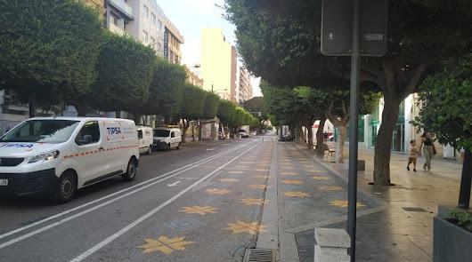 Dos días de cortes de tráfico en el Paseo de Almería por poda de árboles