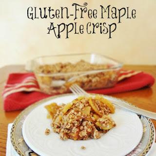 Healthy Gluten Free Maple Apple Crisp.