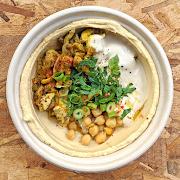 Chicken Shawarma Hummus Bowl