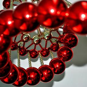 Christmas Balls by Leony Sibug - Artistic Objects Other Objects ( decors, christmas decorations, christmas, christmas decor, christmas balls, red, white, pwc87 )