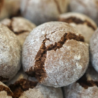 Chocolate Snowball Cookies.