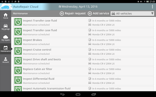 Auto Repair Cloud - Tablet - náhled