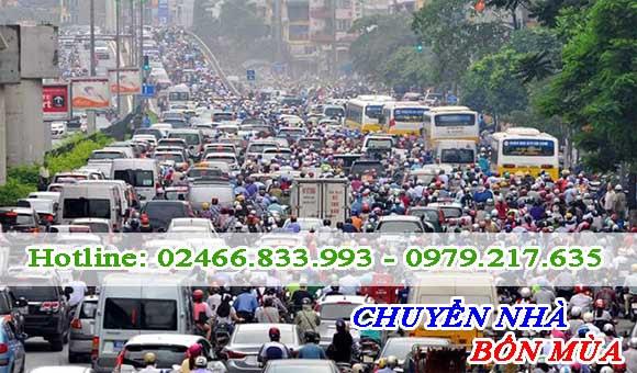 Việc tắc đường ảnh hưởng trực tiếp tới dịch vụ chuyển nhà