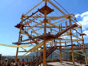 Photo: The over-engineered high ropes course. Quite fun!