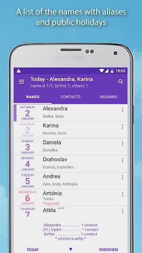 Name days Pro  screenshots 2