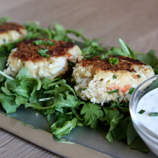 Crab Cakes with Lemon Herb Aioli.