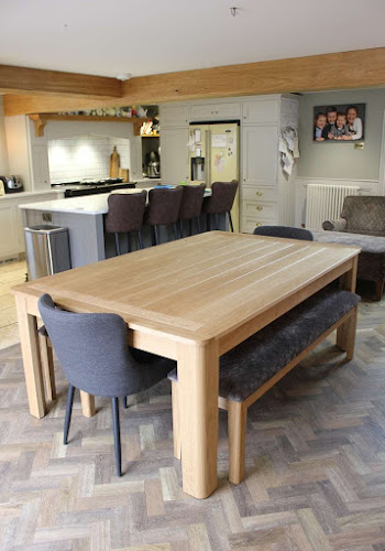 Handmade Oak Kitchen Table in Open Plan Kitchen